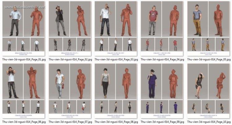 Tổng hợp 10 model 3D người chất lượng cao 014