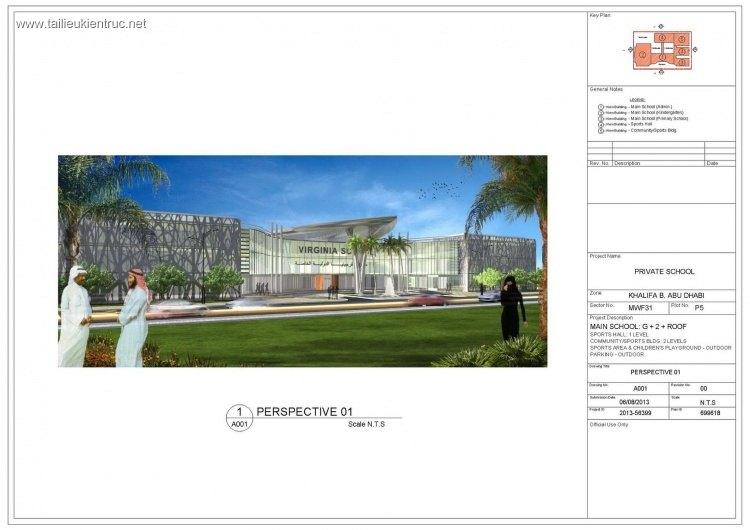 Hồ sơ thiết kế trường tiểu học tại ABU DHABI