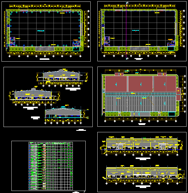 Hồ sơ thiết kế Nhà máy Rental full kiến trúc và kết cấu