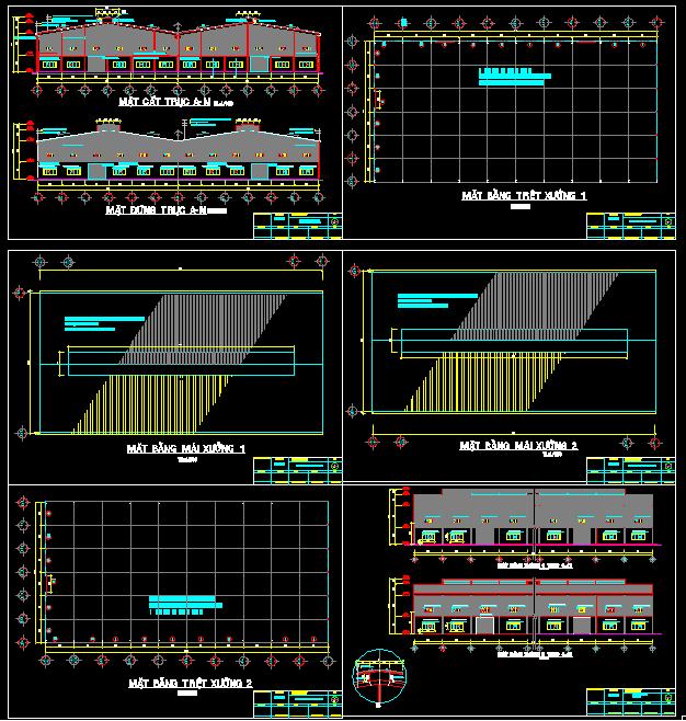 Hồ sơ thiết kế Nhà máy Hawata Vina 33x66m full kiến trúc