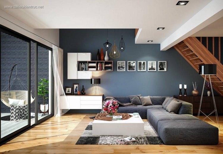 Phối cảnh nội thất 3D phòng khách hiện đại 00032