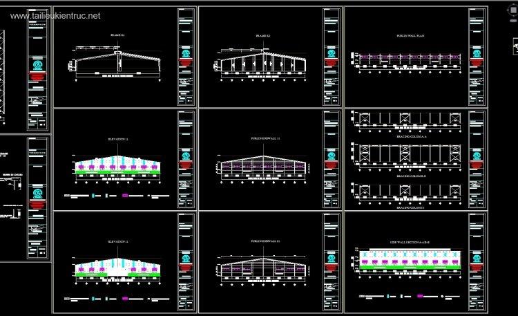 Hồ sơ thiết kế sơ bộ Nhà máy sản xuất ống nước tại Lào diện tích 95x66m