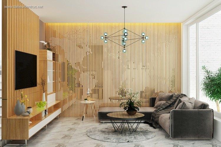 Phối cảnh nội thất 3D phòng khách + bếp nhà phố Hiện đại và đẹp full file max 00036