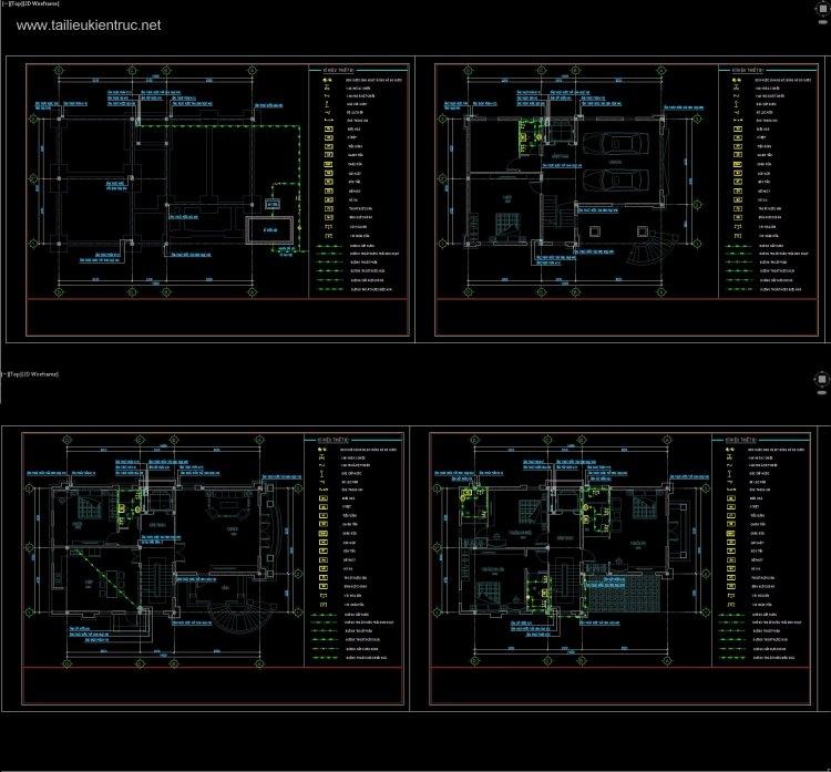 Hồ sơ thiết kế Phần điện + nước biệt thự 4 tầng diện tích 9x14m 081