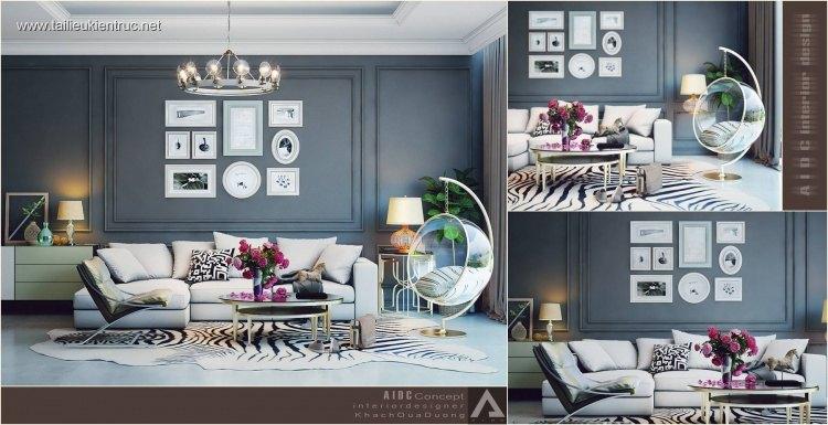 Phối cảnh nội thất 3D phòng khách Hiện đại và đẹp 00046