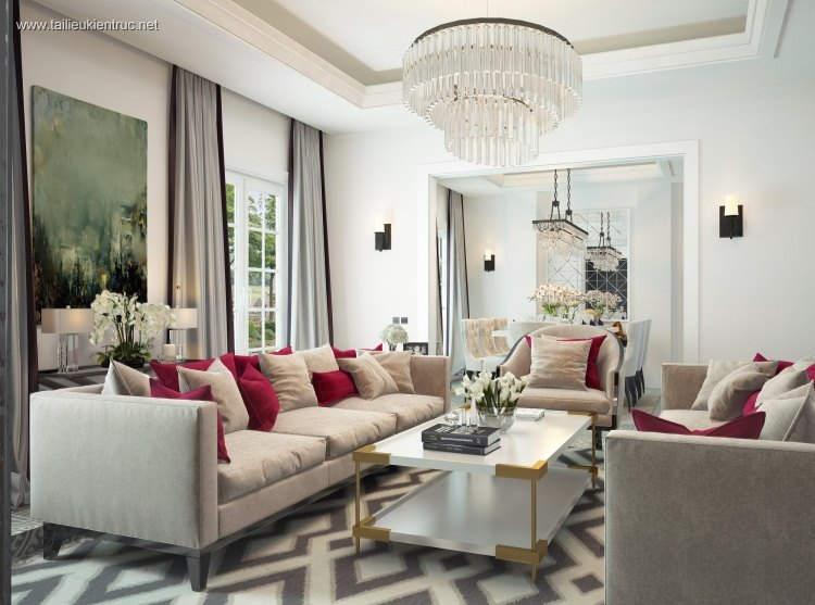 Phối cảnh nội thất 3D phòng khách Hiện đại và đẹp 00047