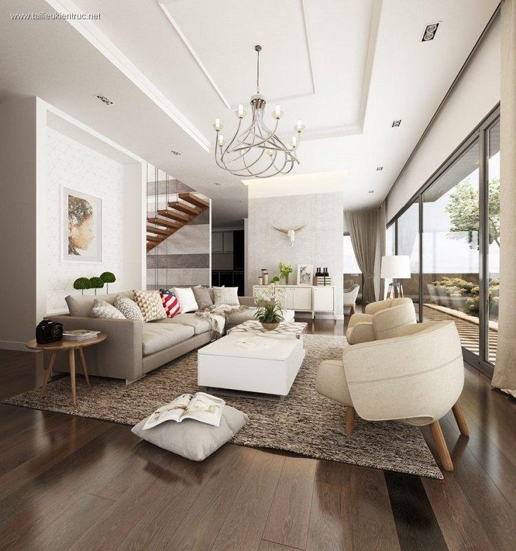 Phối cảnh nội thất 3D phòng khách Hiện đại và đẹp 00048