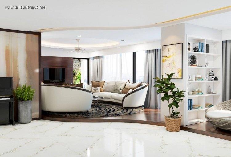 Phối cảnh nội thất 3D phòng khách và bếp Hiện đại và đẹp 00051