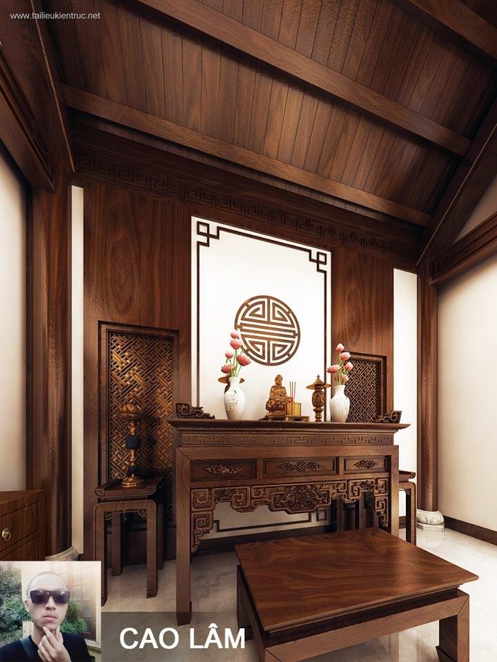 Sence Phòng thờ 016 - Thiết kế nội thất phòng thờ đẹp Full download