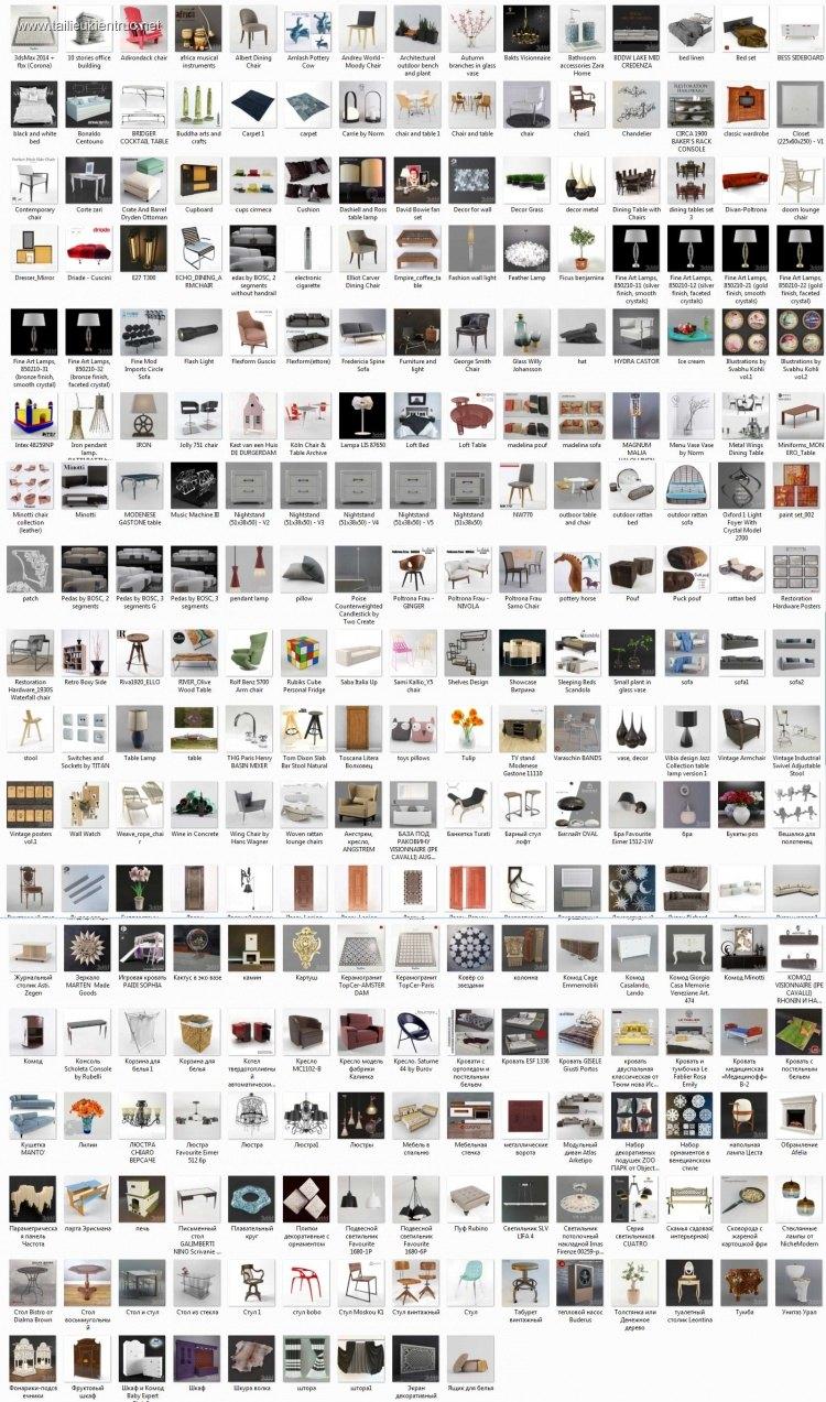 Tổng hợp 264 Model 3D về đồ đạc nội thất Full Vol 7