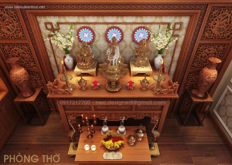 Sence Phòng thờ 017 - Thiết kế nội thất phòng thờ đẹp Full download