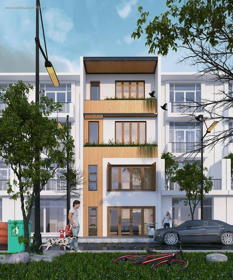 Thư viện 3dsMax Phối cảnh công trình Nhà phố phong cách Hiện đại và đẹp 022