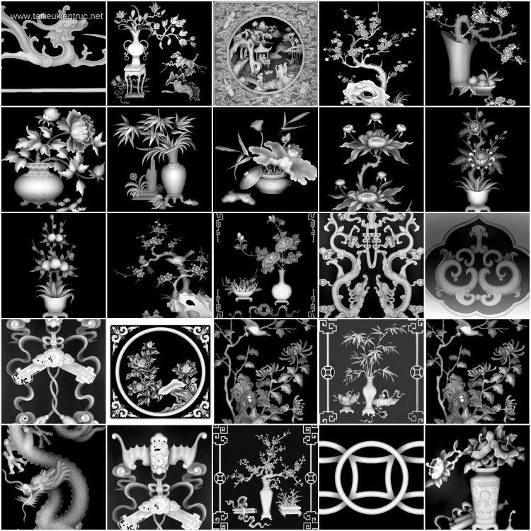 Thư viện 397 ảnh Map Phù điêu 3D dùng cho cắt CNC