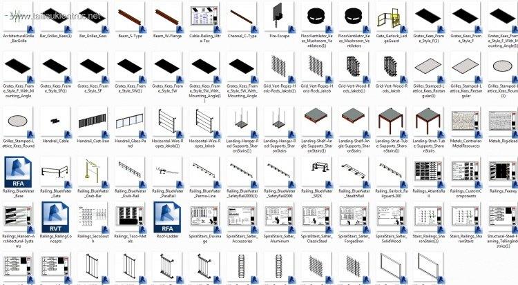 Thư viện Revit Bim về Metals