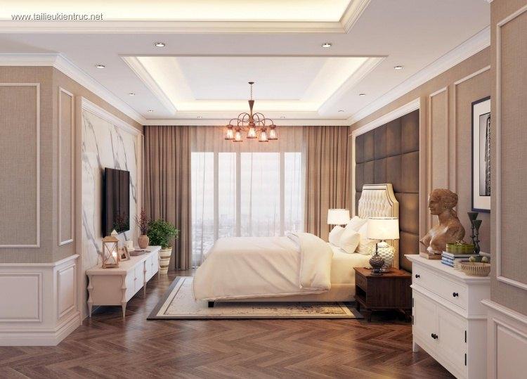 Phối cảnh phòng ngủ Master phong cách Tân cổ điển full 3ds max 00060
