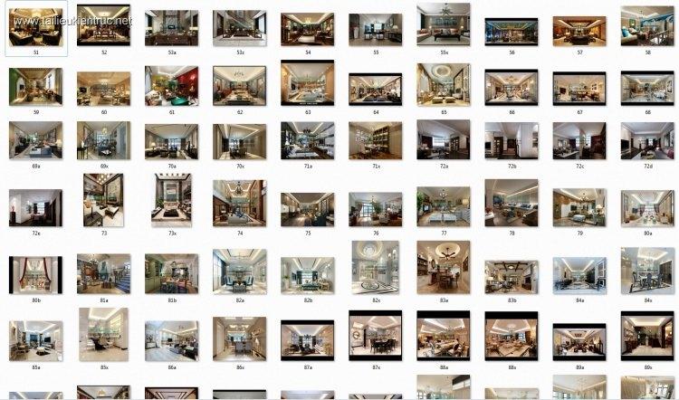 Thư viện 3dsmax Phối cảnh nội thất các công trình gồm 50 Model P2