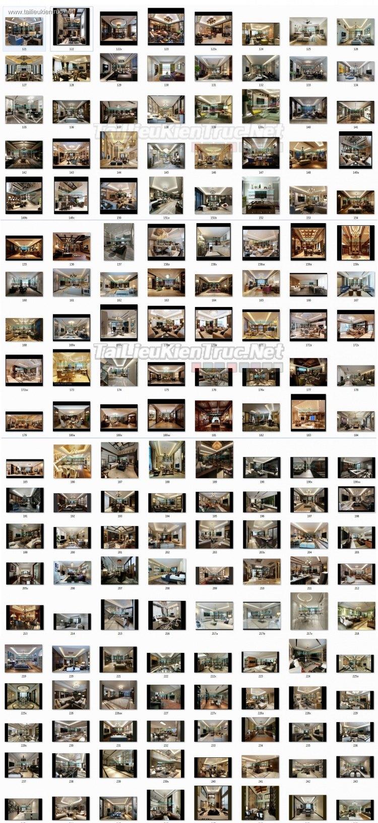 Thư viện 3dsmax Phối cảnh nội thất các công trình gồm 130 Model P3