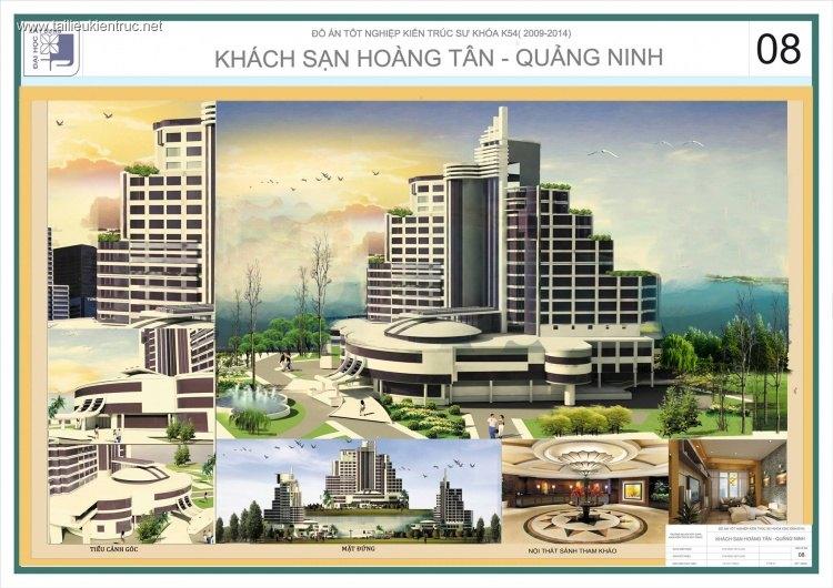Đồ án tốt nghiệp kiến trúc - Thiết kế Khách sạn Hoàng Tân - Quảng Ninh 2