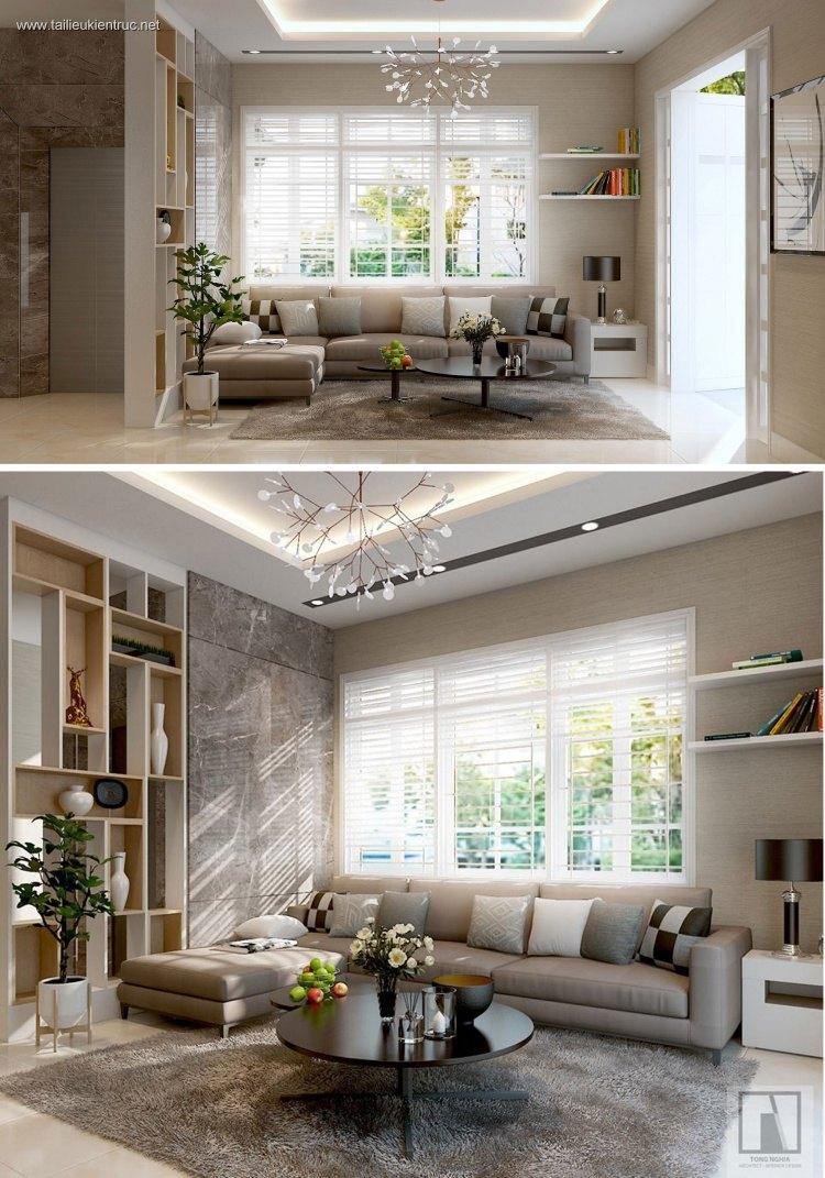 Phối cảnh nội thất 3D phòng khách hiện đại 00063
