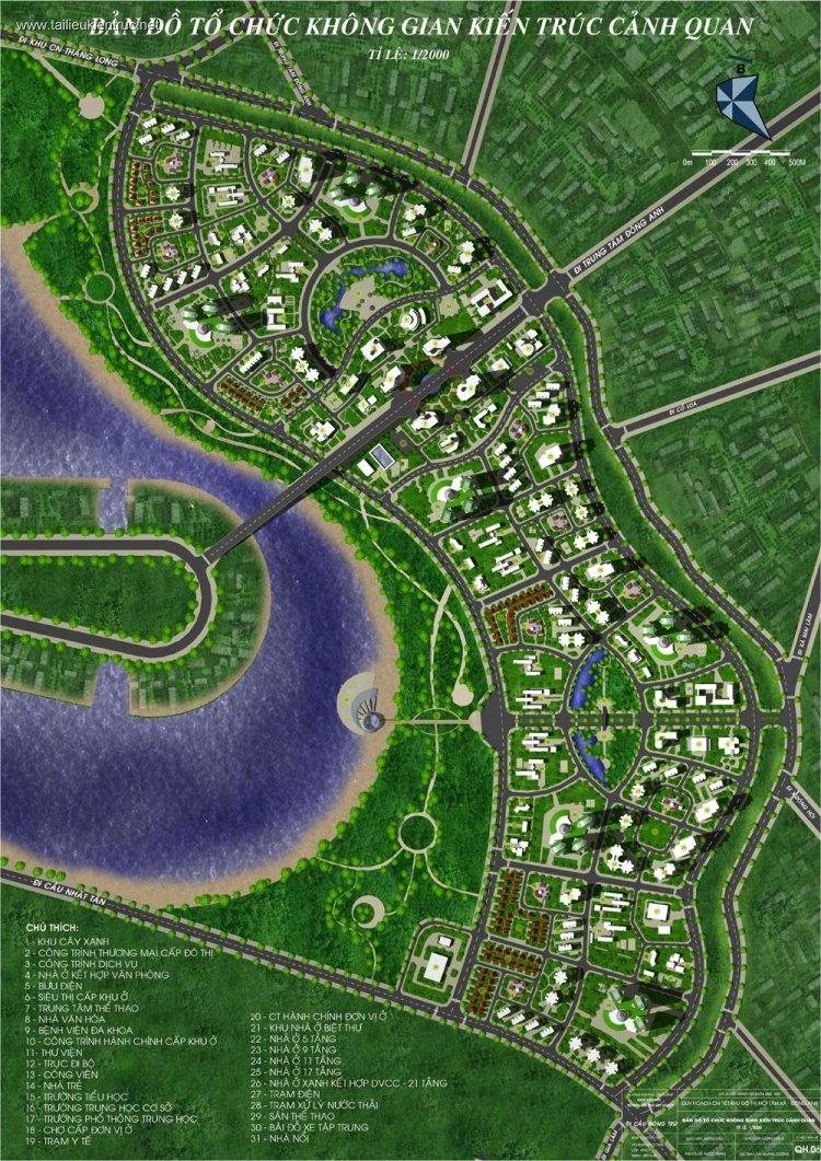Đồ án tốt nghiệp quy hoạch - Quy hoạch chi tiết khu đô thị mới Tầm Xá - Đông Anh