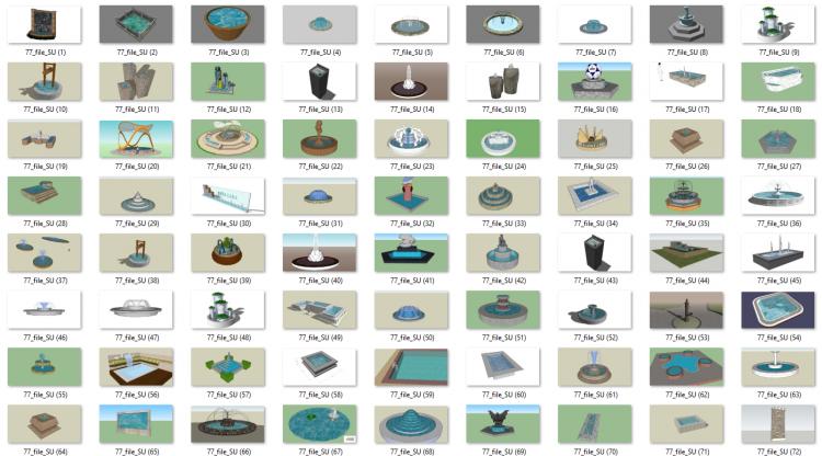 Tổng hợp 77 File Sketchup 3D Model Đài phun nước đẹp P4