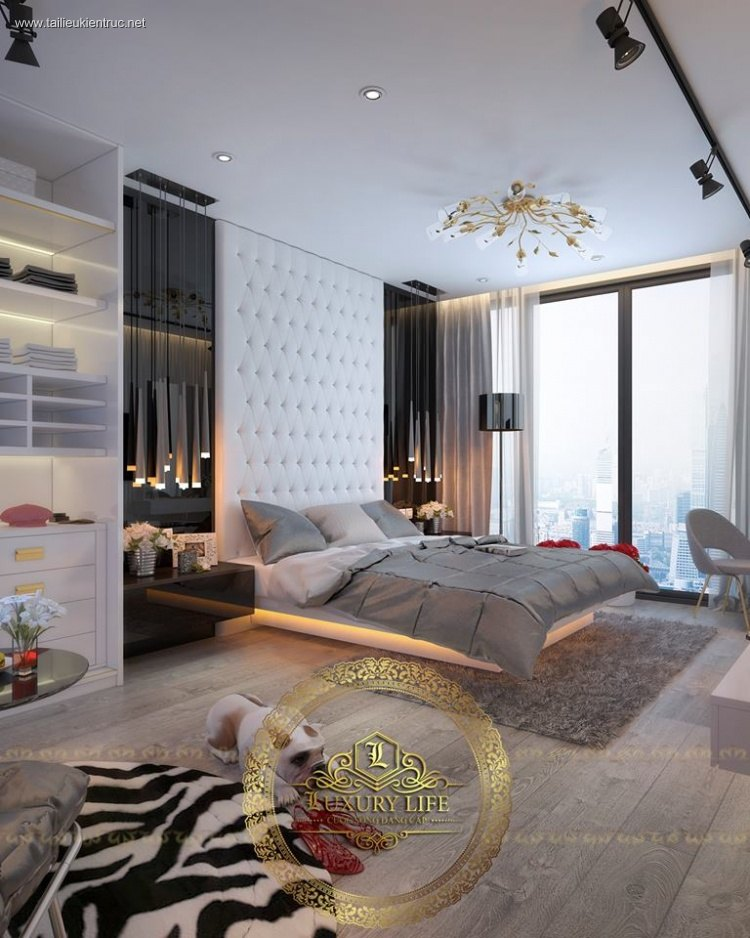 Phối cảnh phòng ngủ Master phong cách Tân cổ điển full 3dsmax 00063