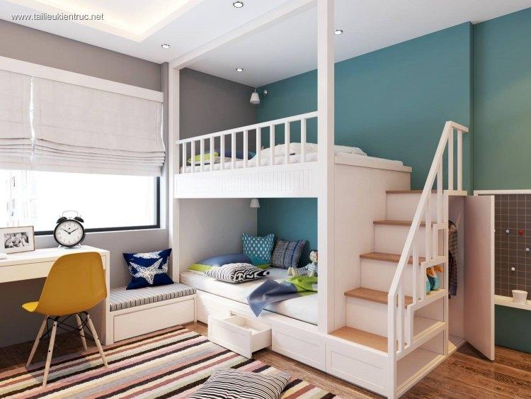 Sence Phòng Ngủ trẻ con 00015 - Thiết kế nội thất phong cách hiện đại