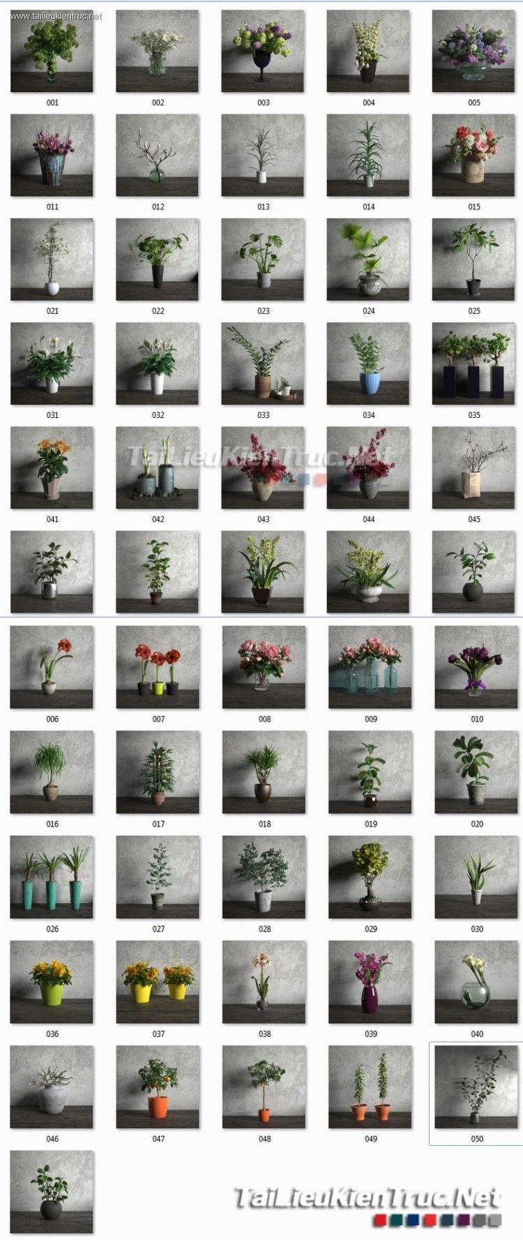 Thư viện 3d tổng hợp 56 Model về các chậu cây trang trí chất lượng và đẹp P24