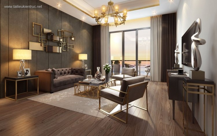 Phối cảnh nội thất 3D Phòng khách hiện đại và đẹp 00071