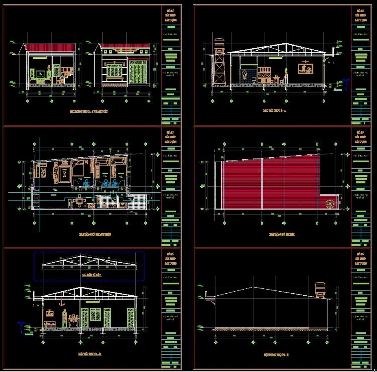 Hồ sơ thiết kế nhà 2 tầng 7,4x12,5m full kiến trúc 023