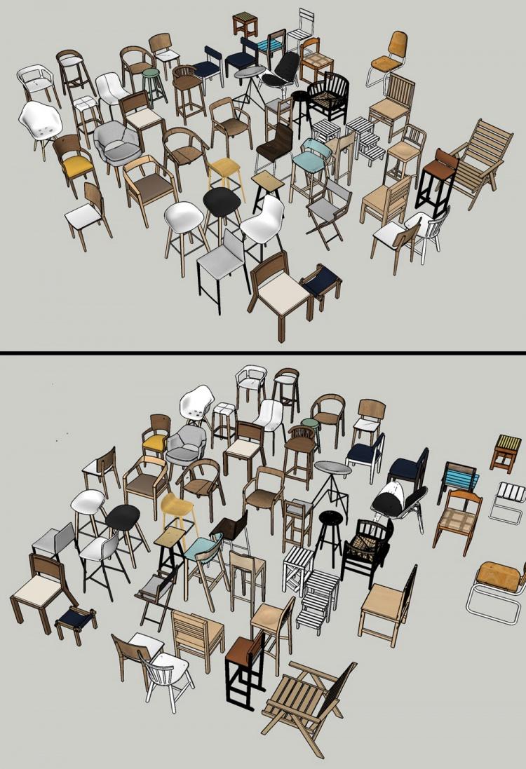 Tổng hợp thư viện Sketchup 50 model 3D ghế đẹp các loại 06