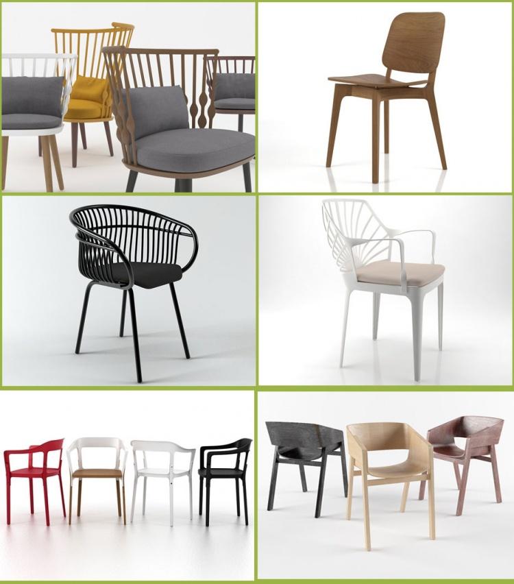 Tổng hợp thư viện Sketchup 06 model 3D ghế đẹp các loại 07
