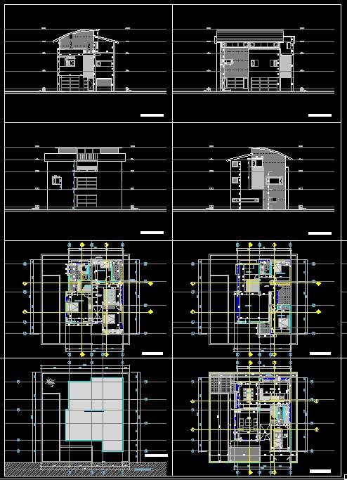 Hồ sơ thiết kế phương án Biệt thự 3 Tầng diện tích 10,25x13,25m - 0102