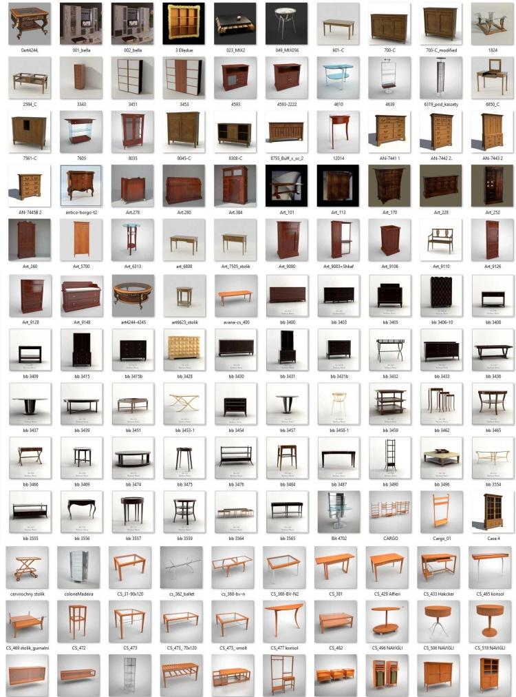Tổng hợp 265 Model 3D về đồ đạc nội thất Full Vol 9