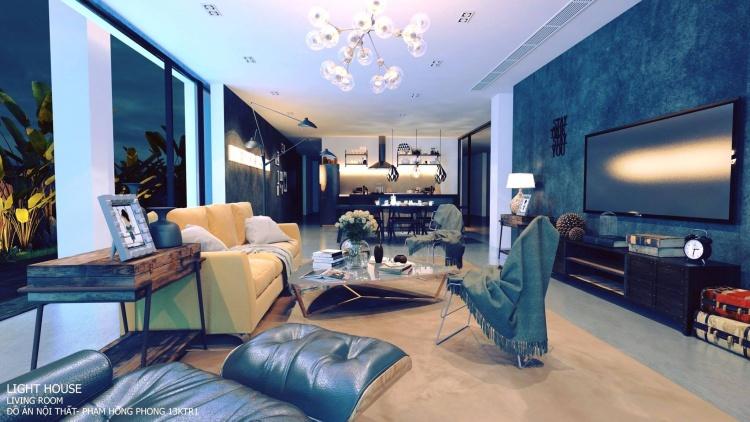 Phối cảnh nội thất 3D Phòng khách, Bếp ăn hiện đại đẹp 00079