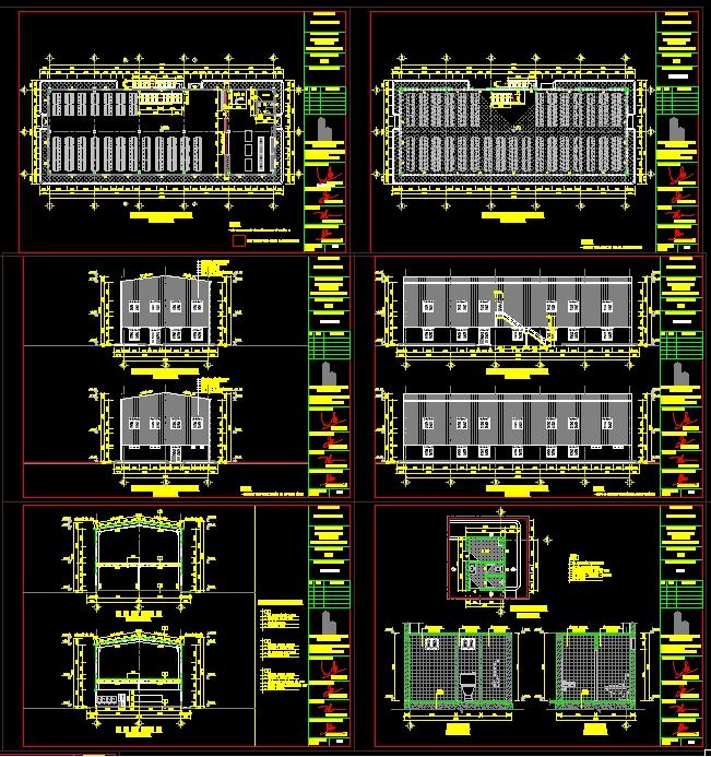 Hồ sơ thiết kế thi công Xưởng ăn nhà máy may diện tích 15x40m 2 tầng full Bản vẽ và thuyết minh