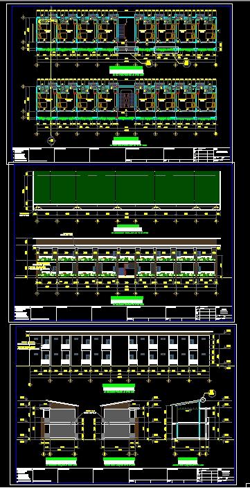 Hồ sơ thiết kế thi công Nhà nghỉ ca diện tích 6,9x40m full kiến trúc