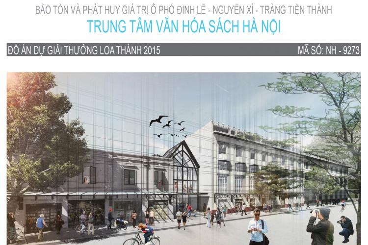 Đồ án tốt nghiệp KTS - Trung tâm văn hóa Sách - Hà Nội