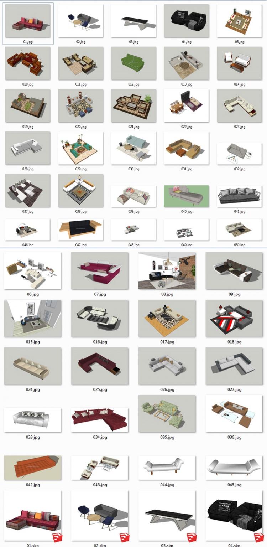 Thư viện Sketchup - Tổng hợp 50 Model Ghế Sofa các loại chất lượng cao 002