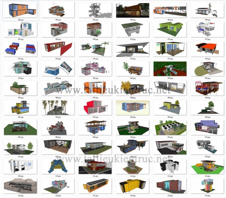 Thư viện Sketchup tổng hợp 60 Model về các thiết kế nhà Container P2