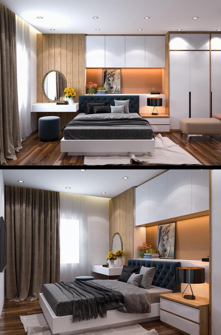 Phối cảnh phòng ngủ phong cách Hiện đại đẹp full file Max 00077