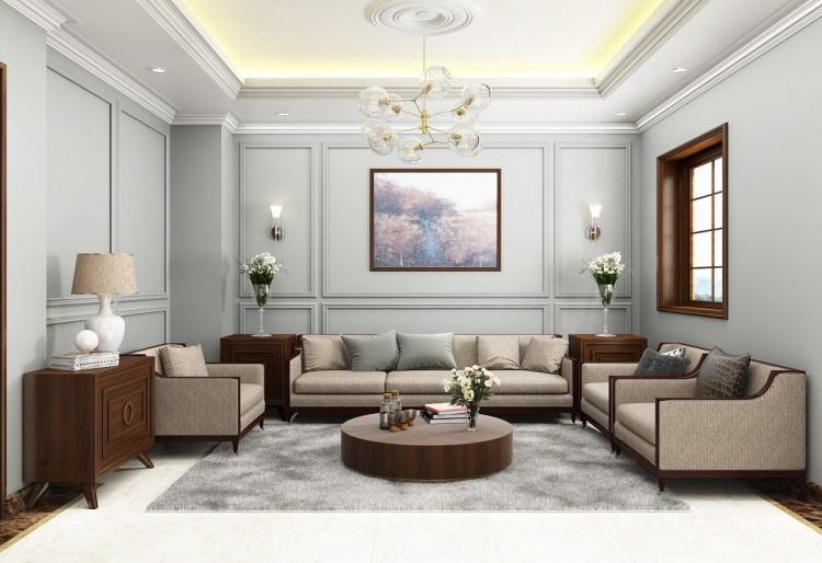 Phối cảnh nội thất 3D Max Phòng khách hiện đại đẹp 00083