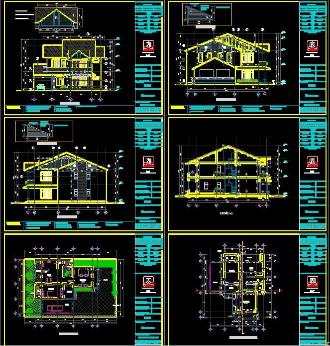 Biệt thự 2 tầng diện tích đất ở 267m2 kích thước 15x17,5m 0111 gồm hạng mục kiến trúc và kết cấu