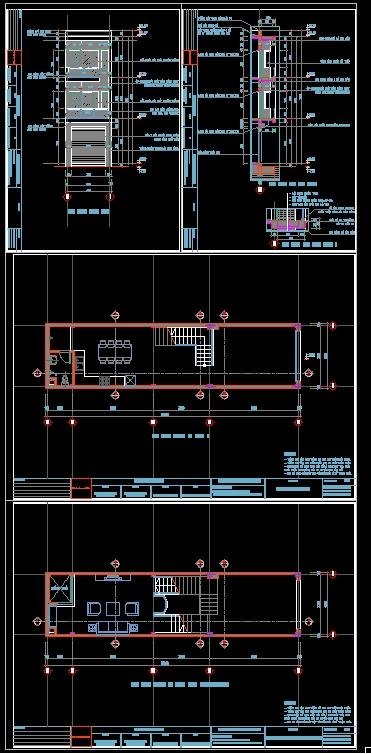 Hồ sơ thiết kế thi công kiểu Nhà Phố 3 tầng kích thước sử dụng 4x16m 119 full kiến trúc