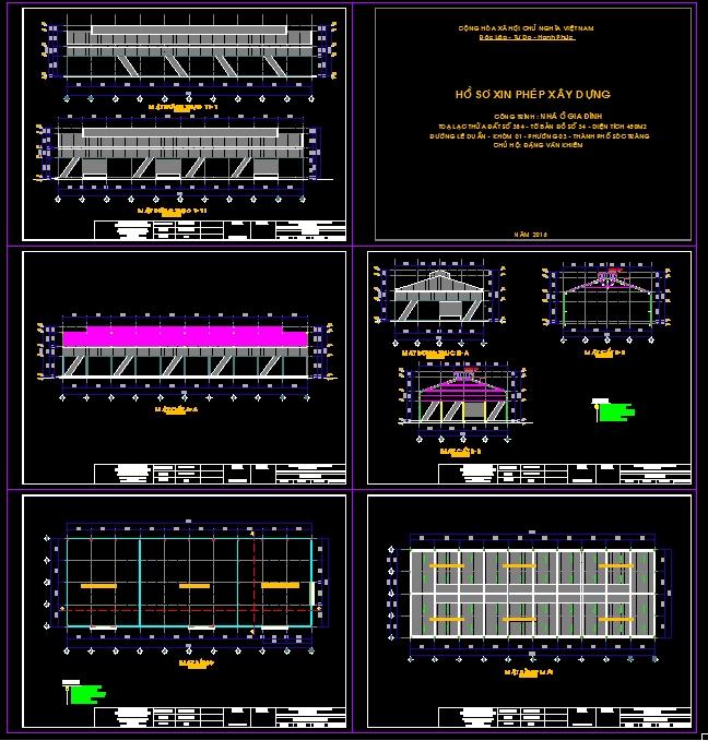 Hồ sơ thiết kế Bản vẽ nhà kho với diện tích 18x50m