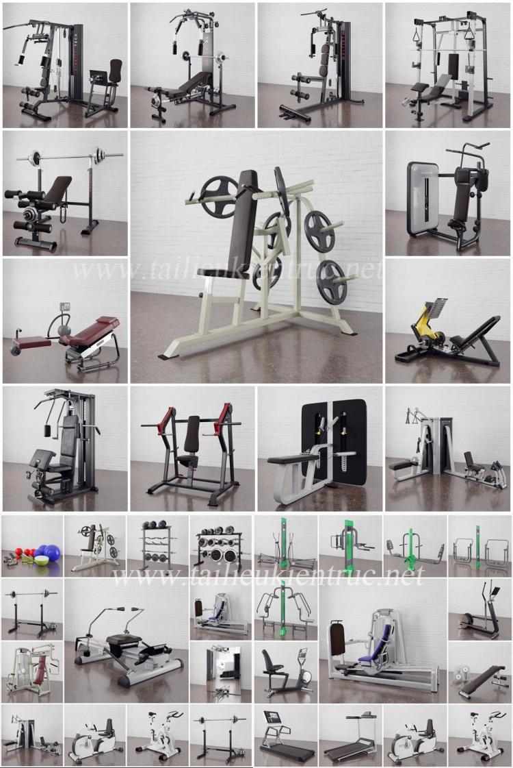Tổng hợp 34 Model dụng cụ tập Gym 03 full download