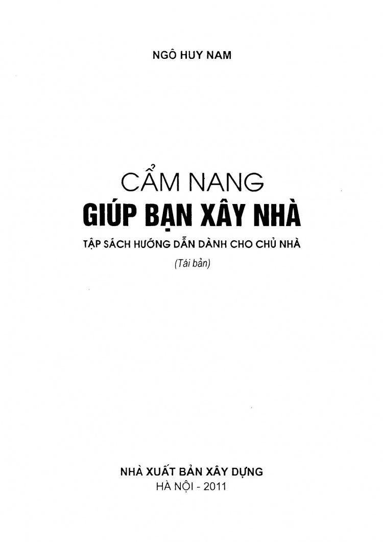 Cẩm nang giúp bạn xây nhà - Ngô Huy nam download