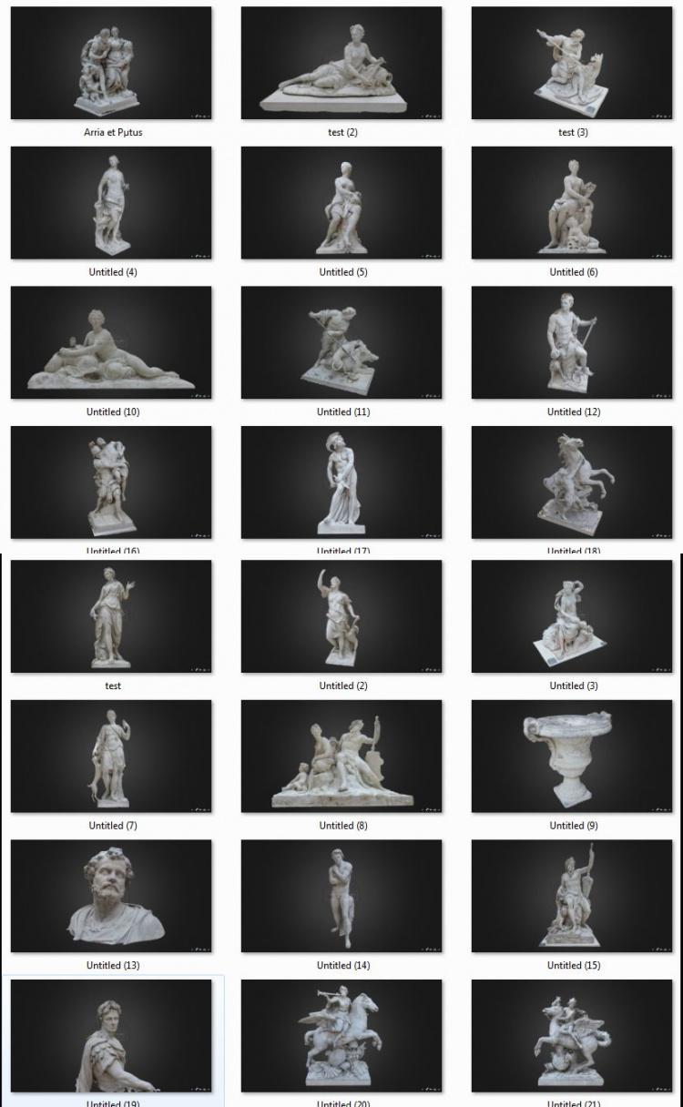 Tổng hợp 25 model Tượng các vị thần của Châu âu file 3dsmax
