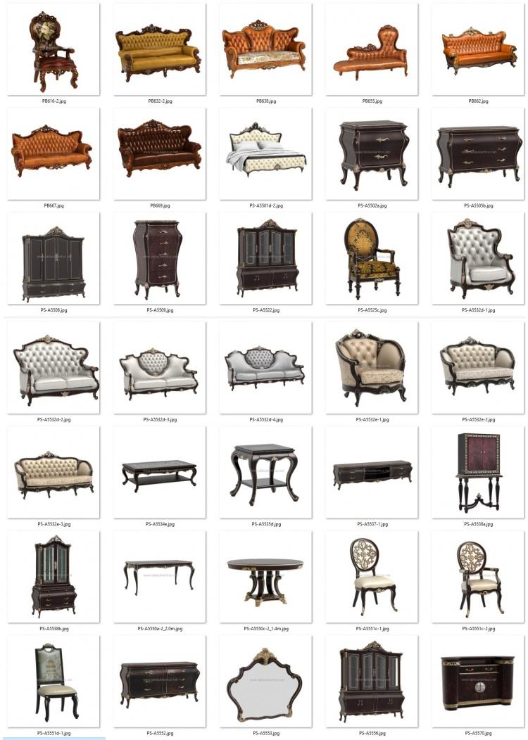 Thư viện 3D tân cổ điển tổng hợp 35 Model 3dsmax về Sofa, bàn ghế, tủ, kệ chất lượng cao