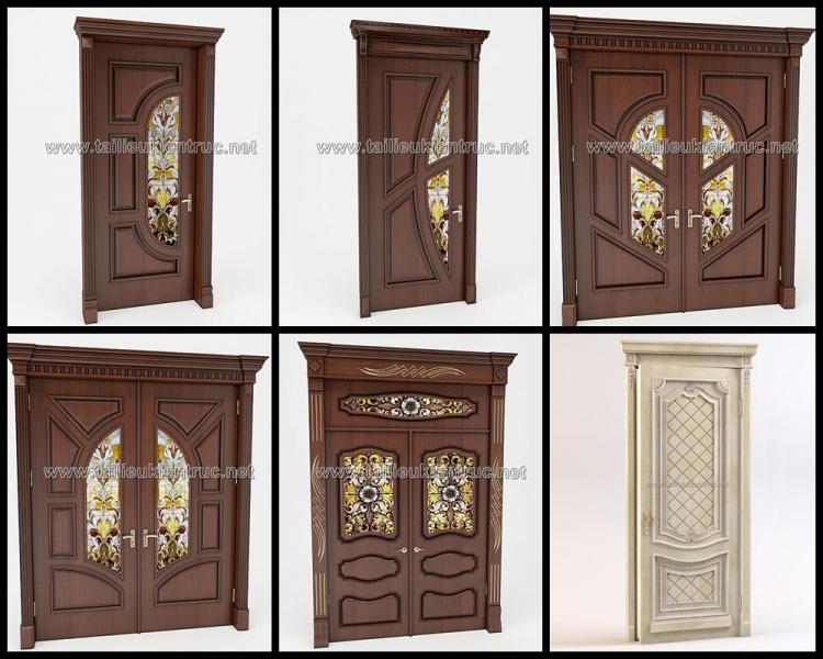 Thư viện 3d tổng hợp 06 model cửa gỗ đẹp các loại cổ điển Châu âu P12